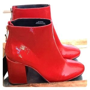 Red Patent booties